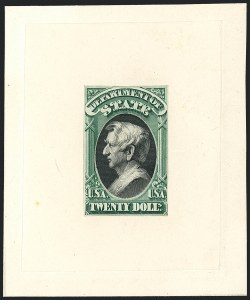 Sale Number 1118, Lot Number 228, 1873 State Department Post Office Announcement, Essays and Proofs$2.00-$20.00 State, Large Die Proofs (O68P1-O71P1), $2.00-$20.00 State, Large Die Proofs (O68P1-O71P1)