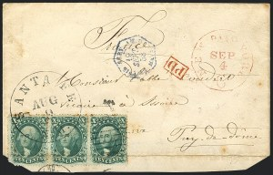 Sale Number 1119, Lot Number 554, 1857-60 Issue10c Green, Ty. II (32), 10c Green, Ty. II (32)