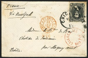 Sale Number 1119, Lot Number 590, 1861-68 Issues, cont.15c Black (77), 15c Black (77)