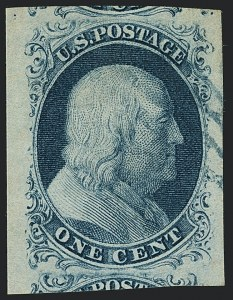 Sale Number 1120, Lot Number 1082, 1c 1851-56 Issue (Scott 5-9)1c Blue, Ty. II (7), 1c Blue, Ty. II (7)
