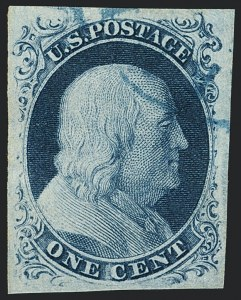 Sale Number 1120, Lot Number 1094, 1c 1851-56 Issue (Scott 5-9)1c Blue, Ty. IIIa (8A), 1c Blue, Ty. IIIa (8A)