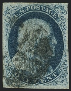 Sale Number 1120, Lot Number 1095, 1c 1851-56 Issue (Scott 5-9)1c Blue, Ty. IIIa (8A), 1c Blue, Ty. IIIa (8A)