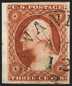 Sale Number 1120, Lot Number 1108, 3c 1851-56 Issue (Scott 10-11A)3c Orange Brown, Ty. I (10), 3c Orange Brown, Ty. I (10)