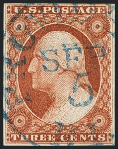 Sale Number 1120, Lot Number 1110, 3c 1851-56 Issue (Scott 10-11A)3c Orange Brown (10), 3c Orange Brown (10)