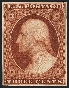 Sale Number 1120, Lot Number 1111, 3c 1851-56 Issue (Scott 10-11A)3c Deep Orange Brown, Ty. II (10A), 3c Deep Orange Brown, Ty. II (10A)