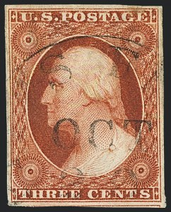 Sale Number 1120, Lot Number 1113, 3c 1851-56 Issue (Scott 10-11A)3c Orange Brown, Ty. II (10A), 3c Orange Brown, Ty. II (10A)