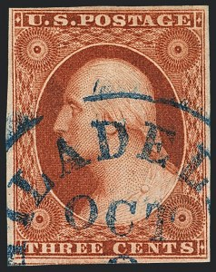 Sale Number 1120, Lot Number 1117, 3c 1851-56 Issue (Scott 10-11A)3c Orange Brown, Ty. II (10A), 3c Orange Brown, Ty. II (10A)