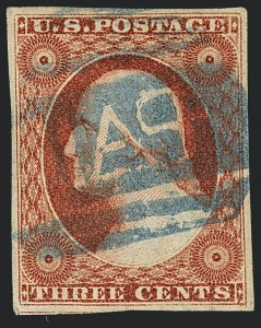 Sale Number 1120, Lot Number 1119, 3c 1851-56 Issue (Scott 10-11A)3c Orange Brown, Ty. II (10A), 3c Orange Brown, Ty. II (10A)