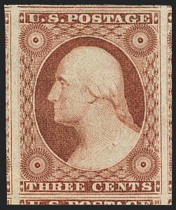 Sale Number 1120, Lot Number 1121, 3c 1851-56 Issue (Scott 10-11A)3c Dull Red, Ty. I (11). Mint N.H, 3c Dull Red, Ty. I (11). Mint N.H