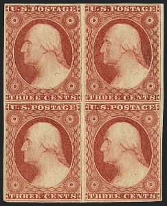 Sale Number 1120, Lot Number 1123, 3c 1851-56 Issue (Scott 10-11A)3c Brownish Carmine, Ty. I (11), 3c Brownish Carmine, Ty. I (11)