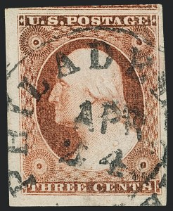Sale Number 1120, Lot Number 1125, 3c 1851-56 Issue (Scott 10-11A)3c Dull Red, Ty. I (11), 3c Dull Red, Ty. I (11)