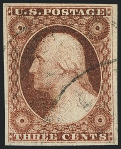 Sale Number 1120, Lot Number 1127, 3c 1851-56 Issue (Scott 10-11A)3c Dull Red, Ty. I (11), 3c Dull Red, Ty. I (11)