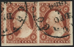 Sale Number 1120, Lot Number 1128, 3c 1851-56 Issue (Scott 10-11A)3c Brownish Carmine, Ty. I (11), 3c Brownish Carmine, Ty. I (11)