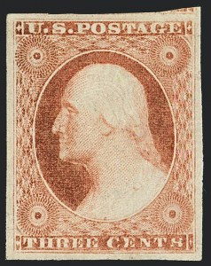 Sale Number 1120, Lot Number 1130, 3c 1851-56 Issue (Scott 10-11A)3c Rose Red, Ty. II (11A), 3c Rose Red, Ty. II (11A)