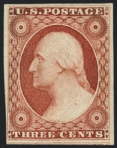 Sale Number 1120, Lot Number 1131, 3c 1851-56 Issue (Scott 10-11A)3c Brownish Carmine, Ty. II (11A), 3c Brownish Carmine, Ty. II (11A)