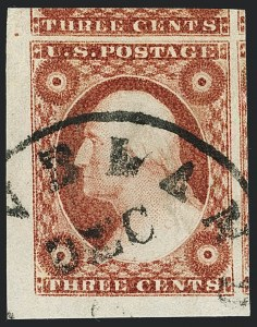 Sale Number 1120, Lot Number 1133, 3c 1851-56 Issue (Scott 10-11A)3c Dull Red, Ty. II (11A), 3c Dull Red, Ty. II (11A)