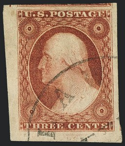 Sale Number 1120, Lot Number 1134, 3c 1851-56 Issue (Scott 10-11A)3c Brownish Carmine, Ty. II (11A), 3c Brownish Carmine, Ty. II (11A)