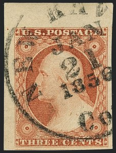 Sale Number 1120, Lot Number 1135, 3c 1851-56 Issue (Scott 10-11A)3c Claret, Ty. II (11A), 3c Claret, Ty. II (11A)