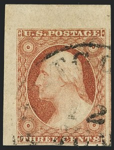 Sale Number 1120, Lot Number 1139, 3c 1851-56 Issue (Scott 10-11A)3c Dull Red, Ty. II (11A), 3c Dull Red, Ty. II (11A)