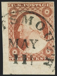 Sale Number 1120, Lot Number 1140, 3c 1851-56 Issue (Scott 10-11A)3c Dull Red, Ty. II (11A), 3c Dull Red, Ty. II (11A)