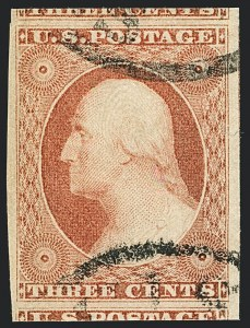 Sale Number 1120, Lot Number 1143, 3c 1851-56 Issue (Scott 10-11A)3c Dull Red, Ty. II (11A), 3c Dull Red, Ty. II (11A)