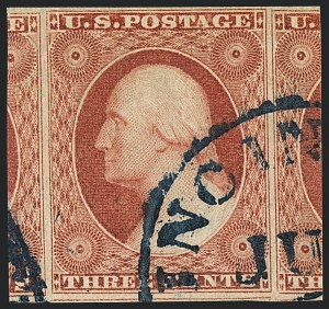Sale Number 1120, Lot Number 1145, 3c 1851-56 Issue (Scott 10-11A)3c Brownish Carmine, Ty. II (11A), 3c Brownish Carmine, Ty. II (11A)