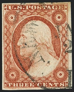 Sale Number 1120, Lot Number 1149, 3c 1851-56 Issue (Scott 10-11A)3c Dull Red, Ty. II (11A), 3c Dull Red, Ty. II (11A)