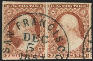 Sale Number 1120, Lot Number 1154, 3c 1851-56 Issue (Scott 10-11A)3c Dull Red, Ty. II (11A), 3c Dull Red, Ty. II (11A)