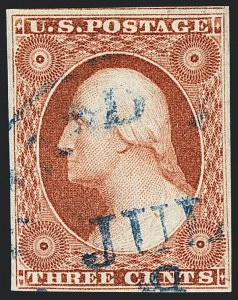 Sale Number 1120, Lot Number 1156, 3c 1851-56 Issue (Scott 10-11A)3c Plate 2 Orange Brown, Ty. II (11A var), 3c Plate 2 Orange Brown, Ty. II (11A var)