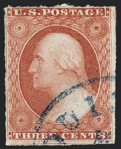 Sale Number 1120, Lot Number 1157, 3c 1851-56 Issue (Scott 10-11A)3c 1856 Plate 5 Orange Brown, Ty. II (11A var), 3c 1856 Plate 5 Orange Brown, Ty. II (11A var)