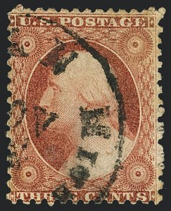 Sale Number 1120, Lot Number 1158, 3c 1851-56 Issue (Scott 10-11A)3c Dull Red, Ty. I, Chicago Perf 12-1/2 (11 var), 3c Dull Red, Ty. I, Chicago Perf 12-1/2 (11 var)