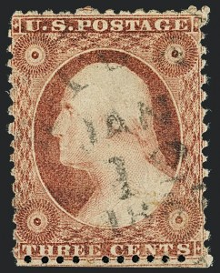 Sale Number 1120, Lot Number 1159, 3c 1851-56 Issue (Scott 10-11A)3c Dull Red, Ty. II, Chicago Perf 12-1/2 (11A var), 3c Dull Red, Ty. II, Chicago Perf 12-1/2 (11A var)