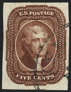 Sale Number 1120, Lot Number 1161, 5c-12c 1851-56 Issue (Scott 12-17)5c Red Brown (12), 5c Red Brown (12)