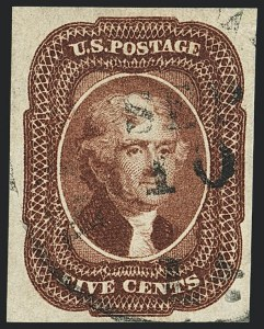 Sale Number 1120, Lot Number 1164, 5c-12c 1851-56 Issue (Scott 12-17)5c Red Brown (12), 5c Red Brown (12)