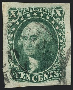 Sale Number 1120, Lot Number 1174, 5c-12c 1851-56 Issue (Scott 12-17)10c Green, Ty. IV (16), 10c Green, Ty. IV (16)