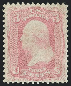 Sale Number 1120, Lot Number 1228, 1861-66 Issue (Scott 56-78)3c Pink (64), 3c Pink (64)