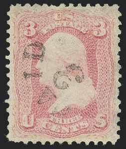 Sale Number 1120, Lot Number 1231, 1861-66 Issue (Scott 56-78)3c Pink (64), 3c Pink (64)