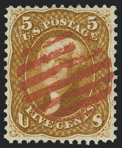 Sale Number 1120, Lot Number 1242, 1861-66 Issue (Scott 56-78)5c Buff (67), 5c Buff (67)