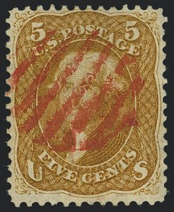 Sale Number 1120, Lot Number 1243, 1861-66 Issue (Scott 56-78)5c Buff (67), 5c Buff (67)