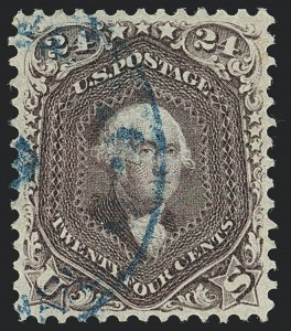 Sale Number 1120, Lot Number 1245, 1861-66 Issue (Scott 56-78)24c Red Lilac (70), 24c Red Lilac (70)