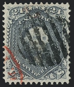 Sale Number 1120, Lot Number 1247, 1861-66 Issue (Scott 56-78)24c Steel Blue (70b), 24c Steel Blue (70b)