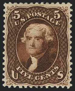 Sale Number 1120, Lot Number 1259, 1861-66 Issue (Scott 56-78)5c Red Brown (75), 5c Red Brown (75)