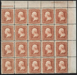Sale Number 1120, Lot Number 1277, 1867-68 Grilled Issue (Scott 79-101)3c Red, F. Grill (94), 3c Red, F. Grill (94)