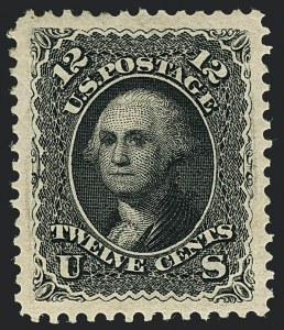Sale Number 1120, Lot Number 1287, 1875 Re-Issue of 1861-66 Issue (Scott 102-111)12c Black, Re-Issue (107), 12c Black, Re-Issue (107)