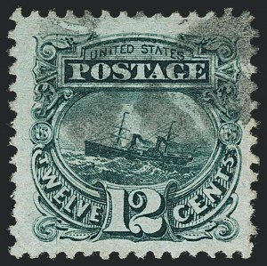 Sale Number 1120, Lot Number 1305, 1869 Pictorial Issue (Scott 112-122)12c Green (117), 12c Green (117)