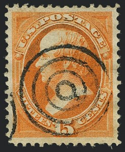 Sale Number 1120, Lot Number 1339, 1870-71 National Bank Note Co. Ungrilled Issue (Scott 145-155)15c Bright Orange (152), 15c Bright Orange (152)