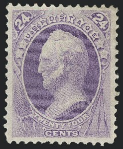 Sale Number 1120, Lot Number 1340, 1870-71 National Bank Note Co. Ungrilled Issue (Scott 145-155)24c Purple (153), 24c Purple (153)