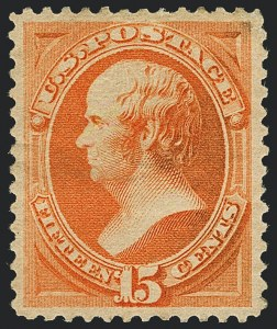 Sale Number 1120, Lot Number 1360, 1879 American Bank Note Co. Issue (Scott 182-191)15c Red Orange (189), 15c Red Orange (189)