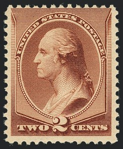 Sale Number 1120, Lot Number 1370, 1881-83 American Bank Note Co. Issues (Scott 205-211B)2c Pale Red Brown, Special Printing (211B), 2c Pale Red Brown, Special Printing (211B)