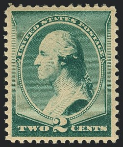 Sale Number 1120, Lot Number 1371, 1887 American Bank Note Co. Issue (Scott 212-218)2c Green (213), 2c Green (213)
